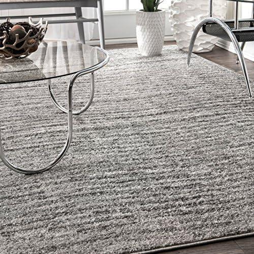 Best NuLOOM Sheepskin  Polypropylene Rug, Ripple Contemporary Sherill Area Rug, 5 x 8, Grey, Gray