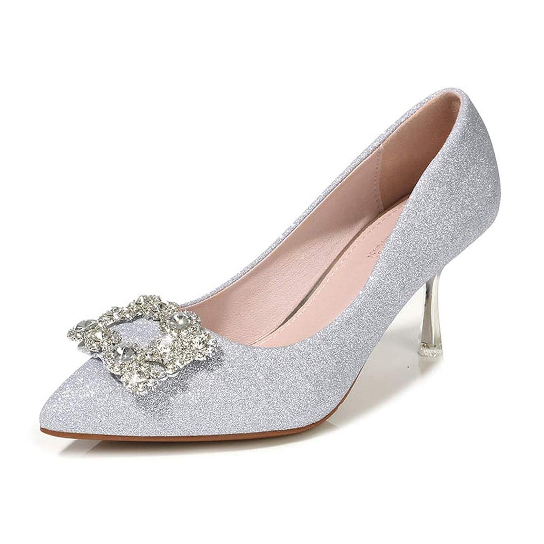 [OceanMap] パンプス 靴 レディース 美脚 パンプス キラキラ パンプス 痛くない ピンヒール ハイヒール 7cm 大きいサイズ 歩きやすい 疲れにくい 走れる ラメ 結婚式 靴 オフィス 立ち仕事 通勤 パーティー