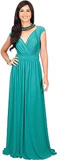 KOH KOH Womens Cap Short Sleeve Elegant Cocktail Evening Gown