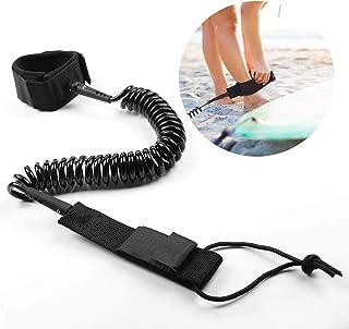 Delaman Correa de Tabla de Surf Stand Up Paddle Board 5mm Resorte en Espiral Pierna Pie Cuerda Correa de Surf para Tabla de Surf 1PC