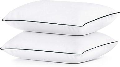 مجموعة وسائد سرير للنوم القياسية مجموعة من 2، وسادة جل للمنزل والفنادق من كولزون، وسائد ناعمة ومحشوة بديلة، 2 عبوة