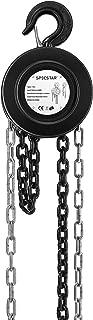 SPECSTAR 10ft Manual Chain Block Hoist with 2 Hooks 1 Ton Capacity Black