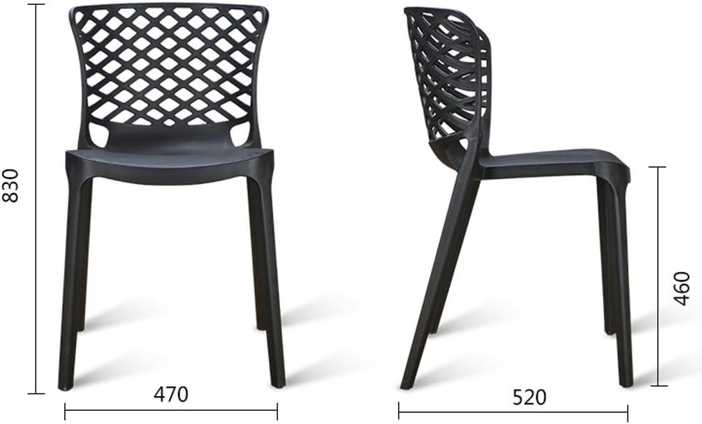 WDX- Restaurant moderne minimaliste en plastique à manger chaise chaise adulte mode (Color : B) F