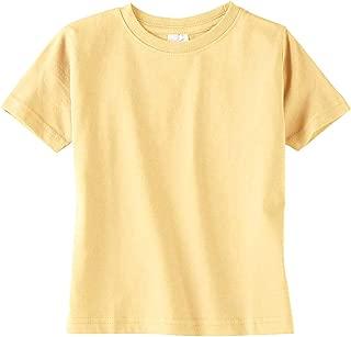 Toddler Soft Ribbed Crewneck Jersey T-Shirt