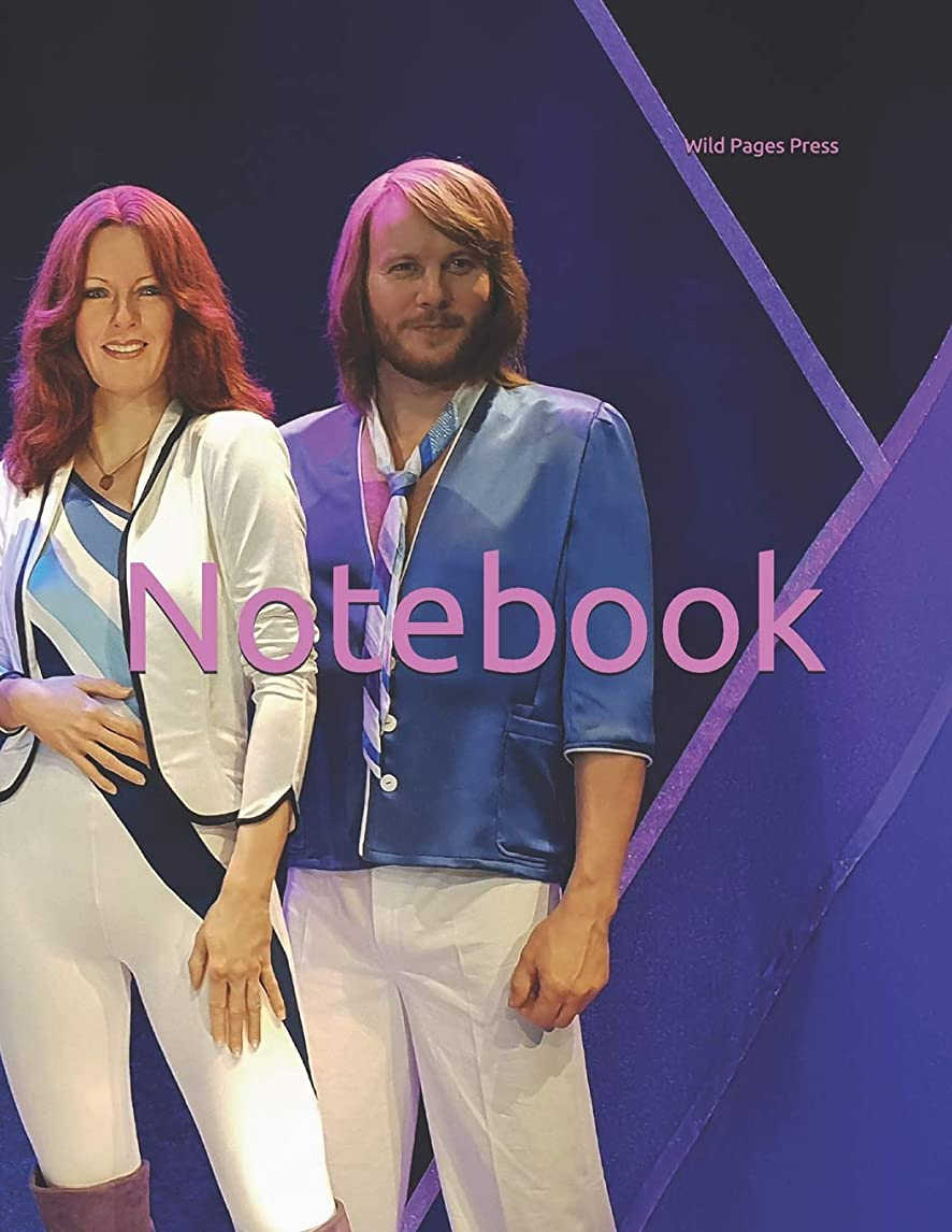 百万子供時代活気づけるNotebook: pop star stars abba wax figures statue music musician musical instruments dancing LFBT 1980