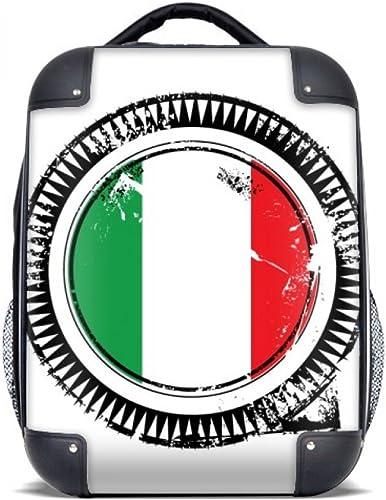 DIYthinker Drapeau national Italie Europe Pays Mark Hard Case épaule enfants Sac à dos de transport 15  cadeau