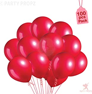 Party Propz Metallic balloons (Pack Of 100, Red)