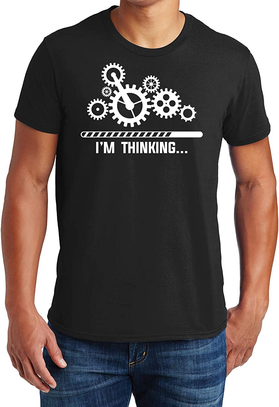 5 popular I'm Thinking Funny Mens T-Shirt Sa All stores are sold Adult Graphic Humor Novelty