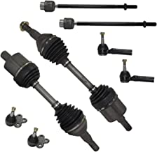 Detroit Axle - New 8-Piece Front Suspension Kit - Pair (2) Lower Ball Joints, All (4) Outer and Inner Tie Rod, Pair (2) CV Axle