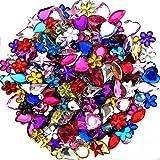 JPSOR 600pcs Gems Acrylic Flatback Rhinestones Gemstone Embellishments, 6 Shapes, 6-13mm