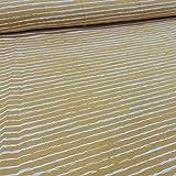 Jersey Stoff Meterware Basic Stripes (senfgelb)