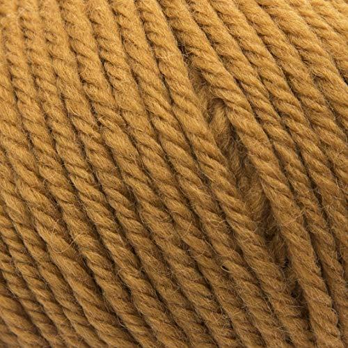ggh Sportlife, Farbe:037 - Curry, 100% Schurwolle, 50g Wolle als Knäuel, Lauflänge ca.80m, Verbrauch 600g, Nadelstärke 4-5, Wolle zum Stricken und Häkeln