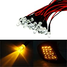 iJDMTOY (20) Amber Yellow 12V LED Emitter Lights For Headlights, Turn Signal Lights Retrofit DIY Use