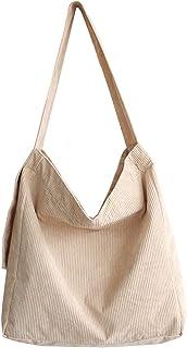 Makukke Umhängetasche Damen - Cord Schultertasche Groß Tasche, Lässige Tote Handtasche Fashion Ultraleicht Stofftasche für...