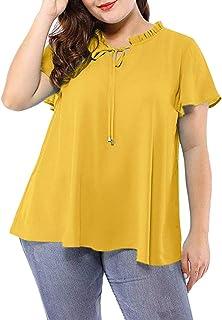 Amazon Es Tallas Grandes Mujer Lunares Blusas Y Camisas Camisetas Tops Y Blusas Ropa