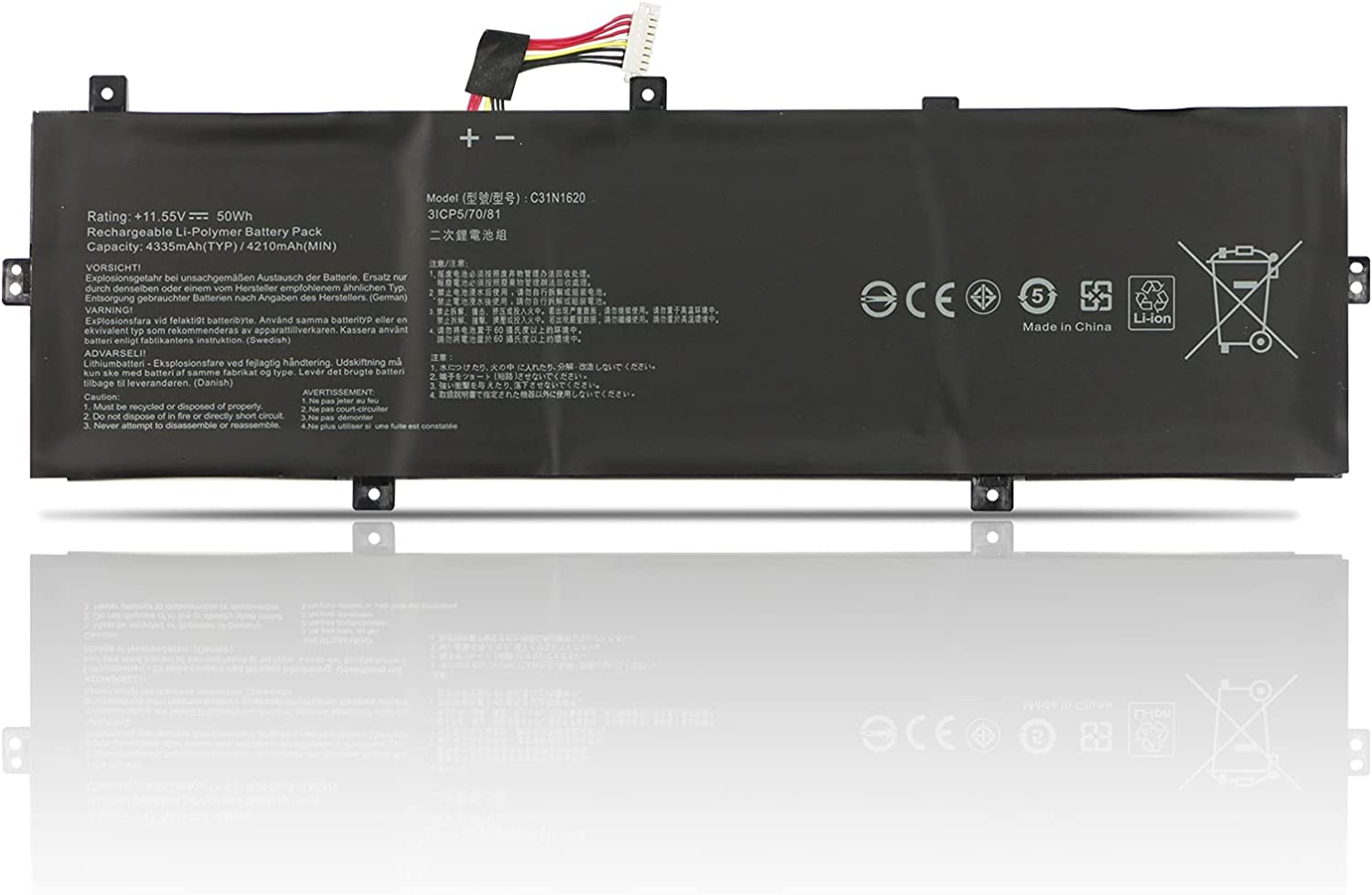 TIIANTE C31N1620 Laptop Ranking TOP8 Battery for UX430U Asus UX430UQ Zenbook Our shop most popular