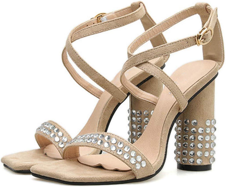 Yeenvan Fashion Women High Heel 11Cm Sandals Flock Women Sandals Summer Women's shoes