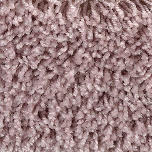 Shaggy-Teppichboden in Rosa | weiche & strapazierfähige Auslegeware | zugeschnittener Bodenbelag | Teppich Langflor in der Größe 600x400 cm | gemütliche Teppichfliesen