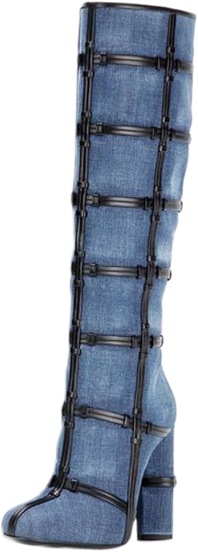 UMEXI Women's 2017 Closed Toe Fashion Chunky Heel Side Zipper Sexy Booties
