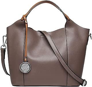 Bags Genuine Leather Women Top Handle Satchel Handbag Tote Shoulder Bag Purse Crossbody Handbags Shoulder Bag (Color : Khaki)