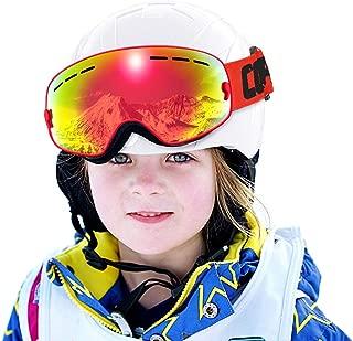 COPOZZ Kids Ski Goggles, G3 Children (Age 2-12) Snow Snowboard Goggles - Helmet Compatible Over Glasses OTG Non-Slip Strap UV400 Protection for Child Youth Boys Girls