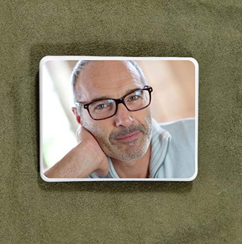 "Custom Ceramic Memorial Photo Tile - Personalized Picture for headstones 4.5""x3.5"""