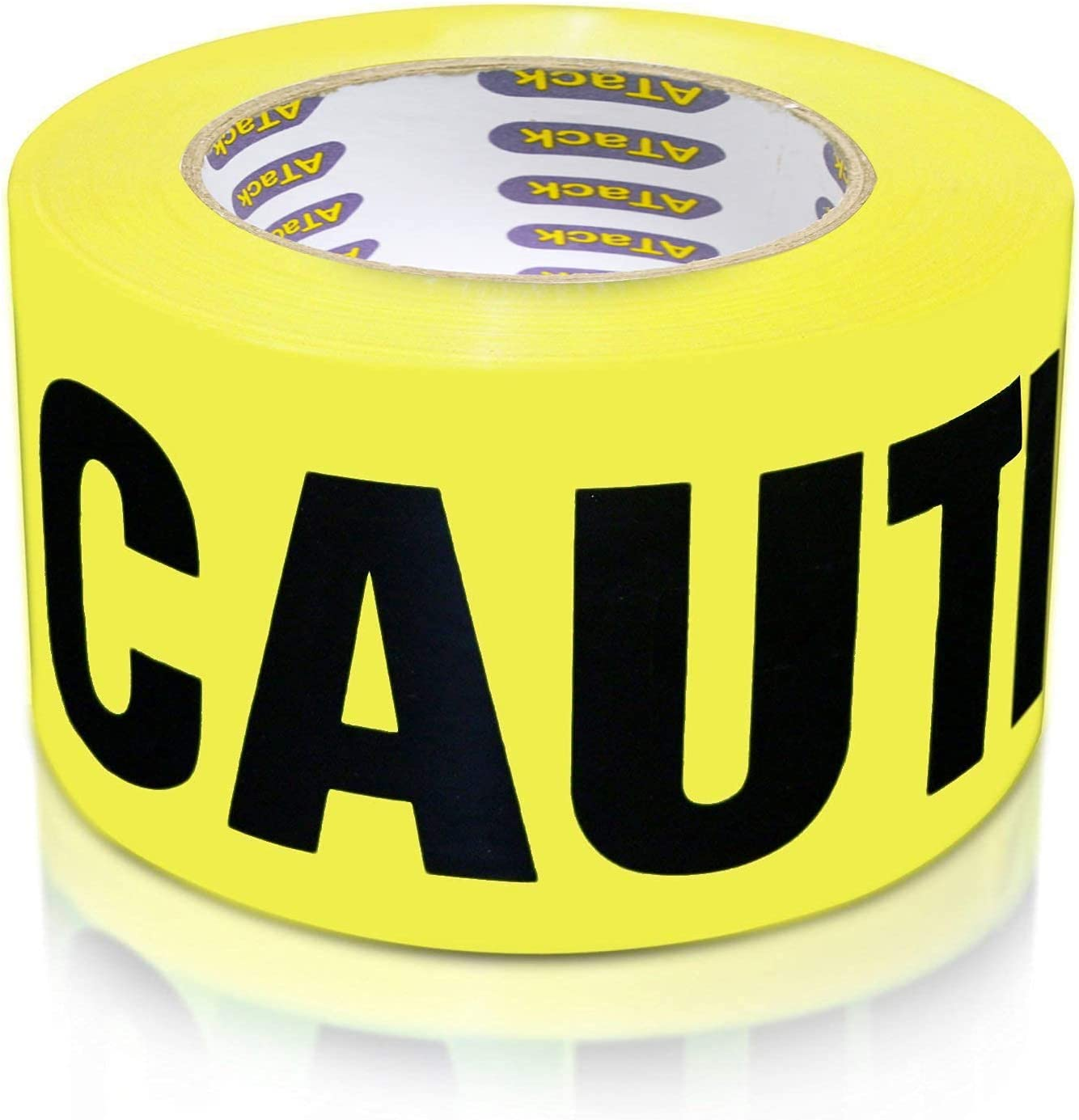 ATack Caution Tape Roll Non Adhesive 3-Inch x 1000-Foot Yellow B