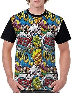 Trend t-Shirt,Speech Bubbles Beep Wow Fashion Personality Customization