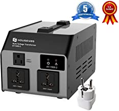 HOUSEYAS 1000 Watt Voltage Transformer Converter[SEYAS Upgraded Version], Auto Step Up & Step Down, 110-120 to 220-240 Volts, W/Extra Surge Protection, Circuit Breaker Protection, Soft Start Function