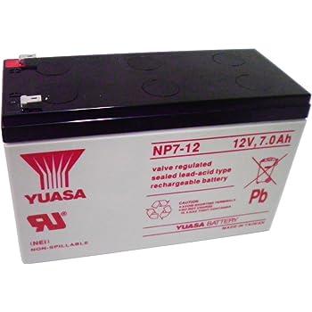 YUASA ( ユアサ ) NP7-12 ■ 小形制御弁式鉛蓄電池 シールドバッテリー ■ 12V / 7Ah NP7-12