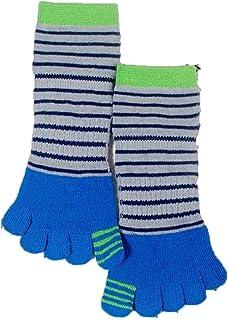 CHUTD, Five-Toe Sox 6 Pares de Calcetines de algodón con Cinco Dedos Calcetines de Dibujos Animados para niños Calcetines Bonitos Calcetines con Dos Dedos Azul 6 Pares de Calcetines (Color: Blue)