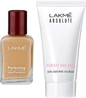 Lakme Perfecting Liquid Foundation, Pearl, 27ml & Lakmé Absolute Perfect Radiance Skin Lightening Facewash, 50g