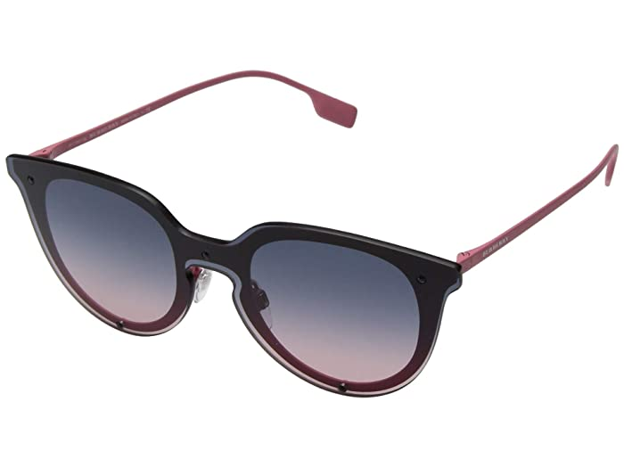 Burberry  0BE3102 (Pink Rubber/Pink Gradient Blue) Fashion Sunglasses
