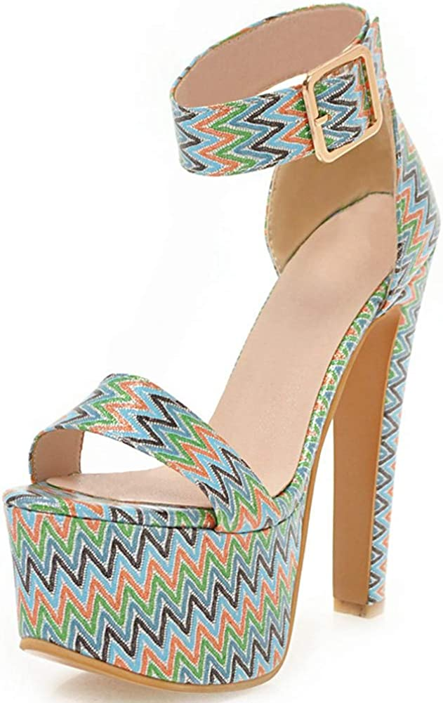 Vimisaoi Women's Platform Block At the price of surprise Max 72% OFF High Band Strappy One Heel Heele