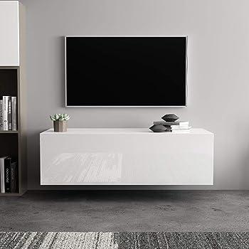 Zerone. Armario Moderno para TV, Mueble para TV en la Pared para Salón y Dormitorio100 x 40 x 30 cm(Blanco): Amazon.es: Hogar