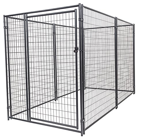Dog Kennel - Lucky Dog Modular Box Kennel - This Welded Animal Enclosure is Perfect for Medium to Large Dogs and Animals and is Designed with Their Safety and Comfort In Mind. Dimensions (6'H x 10'L x 5'W); 131 lbs