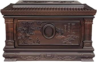 JCCOZ-URG Urns for Human Ashes Adult Wooden - Cremation Urn Forever Memory Box - Commemorate Relatives(850 Cu.in) JCCOZ-URG