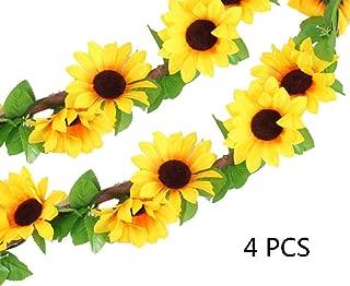 Healthcom Artificial Sunflower Silk Flowers, 4 Pcs 102