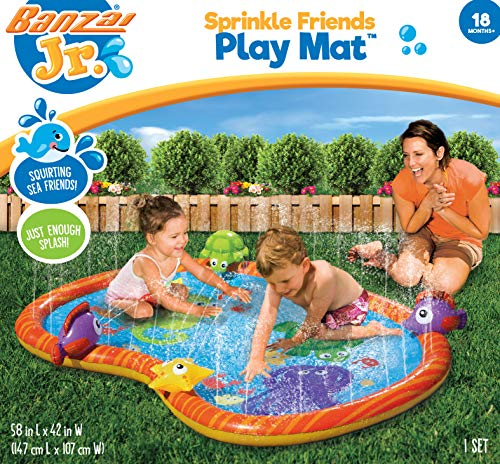 BANZAI 58 inch Sprinkle Friends Play Mat, Watermat