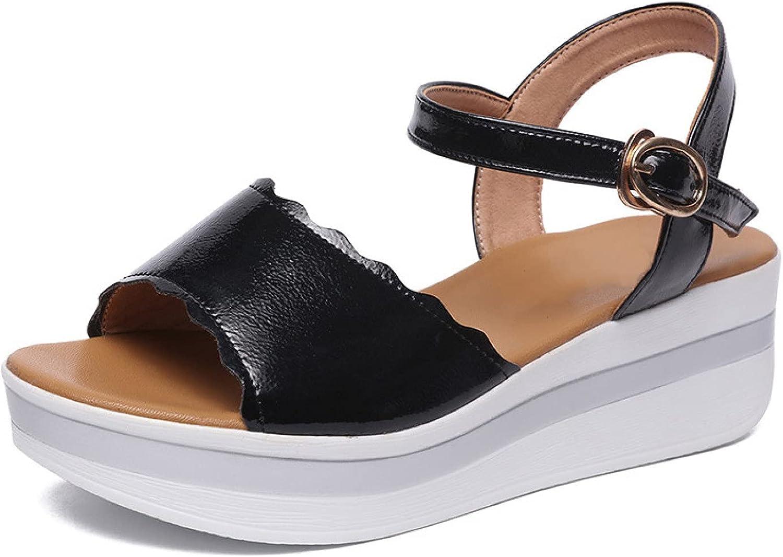 Max 47% OFF Womens Fashion Platform Elegant Wedge Sandals Toe Peep Slingback Buckle