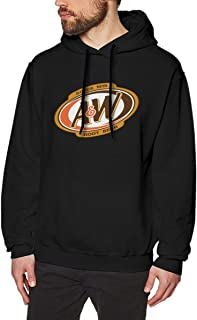 JohnnyKJayTee Mens Fashion A&W Root Beer Logo Hoodie Black with Creative Printed Mens Sweatshirts