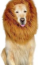ZZQ Pet Dog Lion Pelucas Mane Dog Disfraces de Halloween Fiesta de Pelo Elegante con Orejas para Perros Festival Dress Up Lion Mane para Perro Peluca Disfraz de Mediana