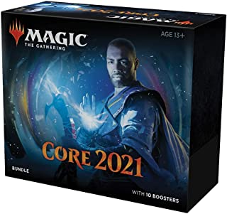 Magic: The Gathering Core Set 2021 (M21) Bundle | 10 Booster Packs + 40 Lands (190 Cards) | Accessories