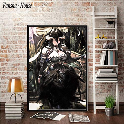 Aya611 Poster Overlord Hot Animation Nettes Mädchen Poster und Drucke Leinwand Malerei Wandkunst Bild Für Room Home Decor50x70cm Kein Rahmen