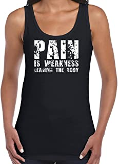 AW Fashions Pain is Weakness Leaving The Body - Quote Women's Tank Top