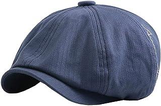 Zegoo Men's Women's Cotton 8Panels Herringbone Newsboy Hat Ivy Cap