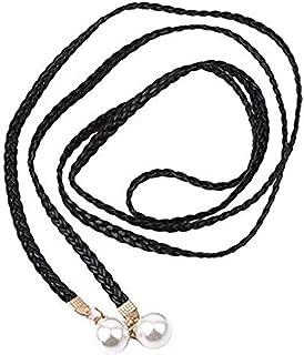 LALANG Women Thin Handmade Knotted Braided Belt Dress Bowknot Waist Chain Knitted Waist Belts