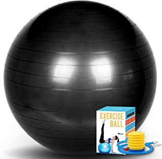 SK Depot™ Exercise Ball 33-85cm Extra Thick Yoga Ball Chair, Slow Deflate Fitness Ball Stability Ball for Improved Posture, Balance, Yoga, Pilates, Core, Fitness Exercise Training Balance Yoga Class Core Office & Home & Gym Ball