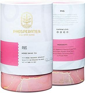 Sponsored Ad - Prosperatea PMS Tea: All Natural Mood Swing Premium Caffeine-Free Herbal Tea, Natural Relief, Women's Cycle...