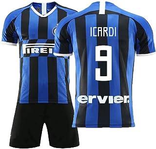 COOLBOY ICARDI 9 Trikot Set mit Hose, Inter Mailand 2018/2019 Trikot Personalisierte Fußball Trikots Herren Kinder Jugend mit Namen und Nummer